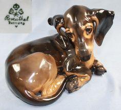 dachshund dog figurine Rosenthal Kärner german porcelain very rare  top 1935