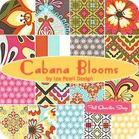 Cabana Blooms Fat Quarter Bundle Iza Pearl Design for Windham Fabrics