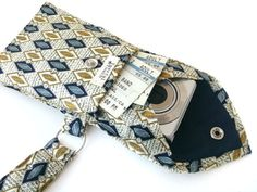 Use old neck ties to make a wristlet.