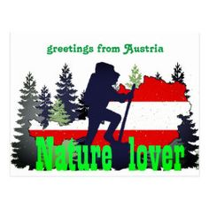 greetings from Austria Postcard , Mountain Vacations, Activity Games, Austria, Create Your Own, Presentation, Poster, Stickers, Shop, Invitations