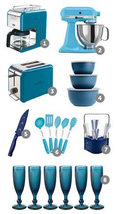 coisas de cozinha azul turquesa - Pesquisa Google