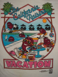 Vintage 1980s CALIFORNIA RAISINS T SHIRT On Vacation BUTTER SOFT Tourist Large | Clothing, Shoes & Accessories, Vintage, Men's Vintage Clothing | eBay!