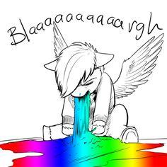 I wish I could puke rainbows...