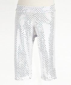 Take a look at this White Sequin Warm-Up Capri Pants - Toddler & Girls by Luca Charles on #zulily today!