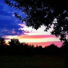 Most patriotic sunset I've ever seen!