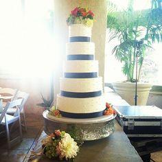 Swiss dot buttercream wedding cake
