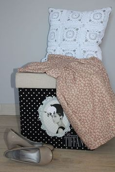 Lovely crocheted pillow