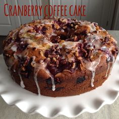 Cranberry Coffee Cak