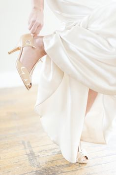 Apricot, ivory and gold