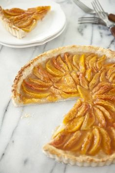 Peach Tart at www,pauladeen.com