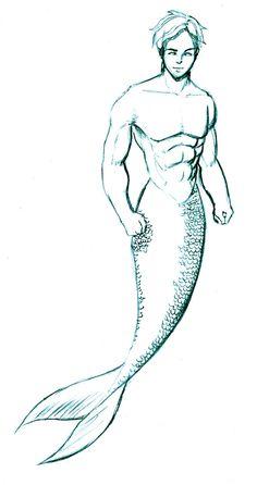mermen drawings | Merman by bluemaxx on DeviantArt