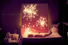 canvas picture lighting | Christmas light canvas night light- in Kelly Moore's bab... / kids ...
