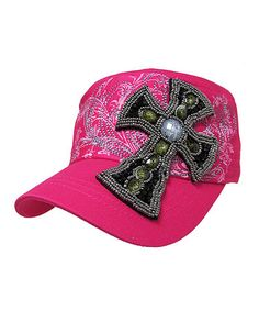 Loving this Hot Pink Cross Patch Vintage Cadet Cap on #zulily! #zulilyfinds
