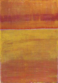 Warm Horizontal Abstract Umělecká reprodukce