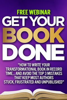 "Transformational book coach, spiritual guide and award-winning author Christine Kloser is hosting a complimentary webinar this Monday ""How to Write Your Transformational Book in Record Time… And Avoid the Top 3 Mistakes That Keep Most Authors Stuck, Frustrated and Unpublished."" http://theinnerwriter.com/GYBD"