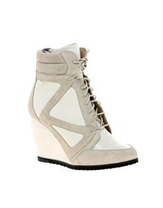Great substitute for the sold out Isabel Marant wedge sneakers asos.com $152.19