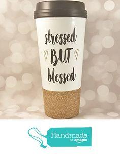 Stressed but Blessed Glitter Travel Mug - Glitter Cup - Coffee Thermos - To Go Cup - Travel Coffee Mug from Sip & Dazzle http://www.amazon.com/dp/B01GF465MQ/ref=hnd_sw_r_pi_dp_TxFvxb0J5HDWS #handmadeatamazon