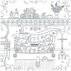 Home Is Where the Heart Is - Adult Coloring Book on Behance
