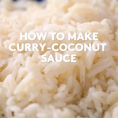 How To Make Curry-Coconut Sauce - Comfort Food - Sauce recipes Easy Curry Sauce, Vegan Curry Sauce, Coconut Curry Sauce, Cheap Clean Eating, Clean Eating Snacks, Vegan Recipes Videos, Cooking Recipes, Recipe Videos, Russian Recipes