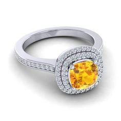 Citrine | Halo Rings | Gemstone | Wedding | Engagement Rings