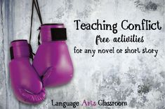Teaching Conflict: free and easy to implement activities for literary devices. Teaching Literature, Teaching Reading, Teaching Ideas, Teaching Plot, Conflict In Literature, Art Classroom, English Classroom, Classroom Ideas, Future Classroom