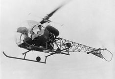 8 December 1945 First flight #flighttest of the H-13 (prototype of Bell 47)