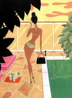 Jordi Labanda - Miami Beach poolside