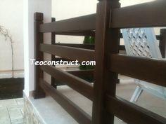 Balustrade din lemn pentru exterior  06 Deck Railings, New Homes, Exterior, Google, Home Decor, Decoration Home, Room Decor, Deck Balusters, Outdoor Rooms