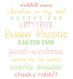 10 Free Easter Fonts  ||  Tessa Cotton  ~~ {w/ links}