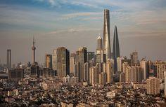 Shanghai China: neighborhoods to skyscrapers [1600 x 1039]