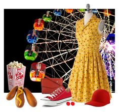 """""""60-Second Style; Amusement Park"""" by meadresearch ❤ liked on Polyvore featuring Bea & Dot, CHARLES & KEITH, Converse, STELLA McCARTNEY, Fornash, amusementpark and 60secondstyle"""