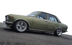 Datsun 1600 riding on Barramundi Design's Sunder wheels