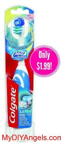 Colgate Battery Powered Toothbrush Only $1.99 at CVS! | MY DIY ANGELS, DIY and Extreme Couponers
