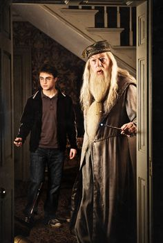 Harry and Dumbledore.