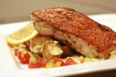 Pan Seared Red Snapper – Carolina Meat & Fish Co. Red snapper sautéed apple cider vinaigrette- serve w apple kale salad and a cranberry relish Pan Seared Red Snapper Recipe, Fried Red Snapper, Fish Recipes, Seafood Recipes, Dinner Recipes, Dinner Ideas, Recipies, Cranberry Relish, Rezepte