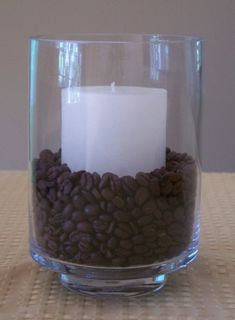 Coffee Beans with Candle (Smells so Good when Lit)