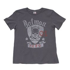 Junk Food - Boy's Batman Hero Tee - Thunder Grey