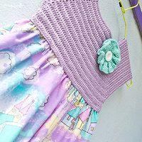 sew  crochet girly dress