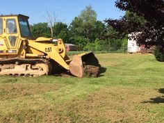 Day 1, 6-8-2015.   Digging the bed for the new driveway