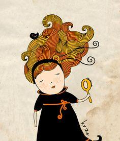 Virgo art print Zodiac Signs Astrology art by krize on Etsy, $19.00