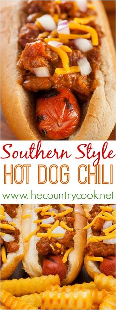 The Country Cook: Southern Style Homemade Hot Dog Chili