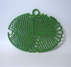 green dansk fish trivet
