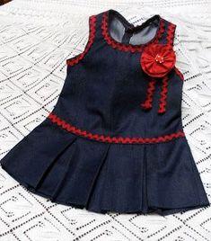 Baby Girl Dress Design, Girls Frock Design, Baby Girl Dress Patterns, Girls Dresses Sewing, Dresses Kids Girl, Little Girl Outfits, Kids Outfits, Baby Girl Frocks, Baby Girl Party Dresses