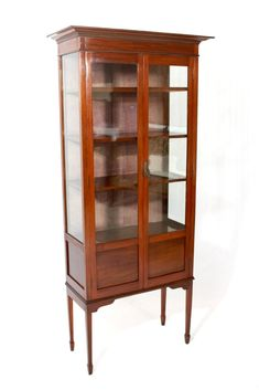 Lovely Mahogany Display Cabinets with Glass Doors
