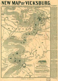 New Map of Vicksburg