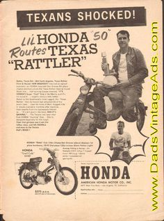 """1961 Texans Shocked! Li'l Honda 50 routes Texas """"Rattler"""""""