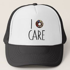 i do not care don't donut funny text message dough trucker hat - accessories accessory gift idea stylish unique custom