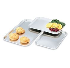 """Vollrath Tray Serving/Display - 80130 Case Pack: 6  Tray, Serving/Display, Rectangular, Stainless, 22 ga., 13 5/8""""x9 3/4""""x5/8"""", USA made, NS..."""