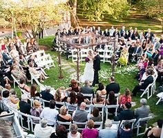 If i were having an outdoor wedding, i would def do this! This is a fantastic idea so that no guest is left out and can't see/hear