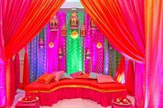 amazing decor for the mehndi ceremony! Mehndi Stage, Mehendi Night, Henna Night, Mehndi Ceremony, Wedding Ceremonies, Mehendi Decor Ideas, Mehndi Decor, Desi Wedding, Wedding Stage